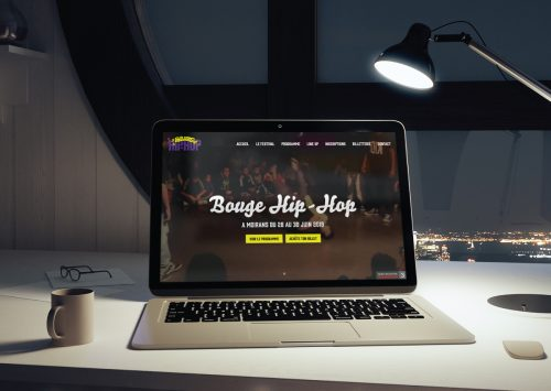 Création du site web pour le festival Bouge Hip-Hop : www.bougehiphop.fr