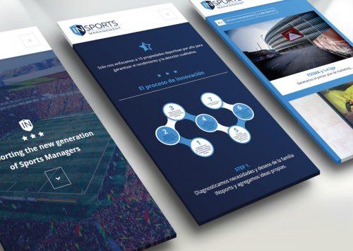 Création du site web pour INsports : www.insportsmanagement.com