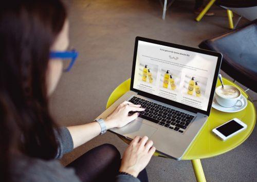 Packaging et site web e-commerce pour les Affranchis : www.les-affranchis.bio
