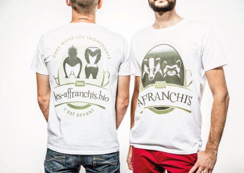 Illustrations, logo et tee shirt pour Les Affranchis.