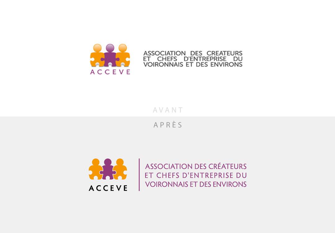 Refonte logo ACCEVE à Voiron