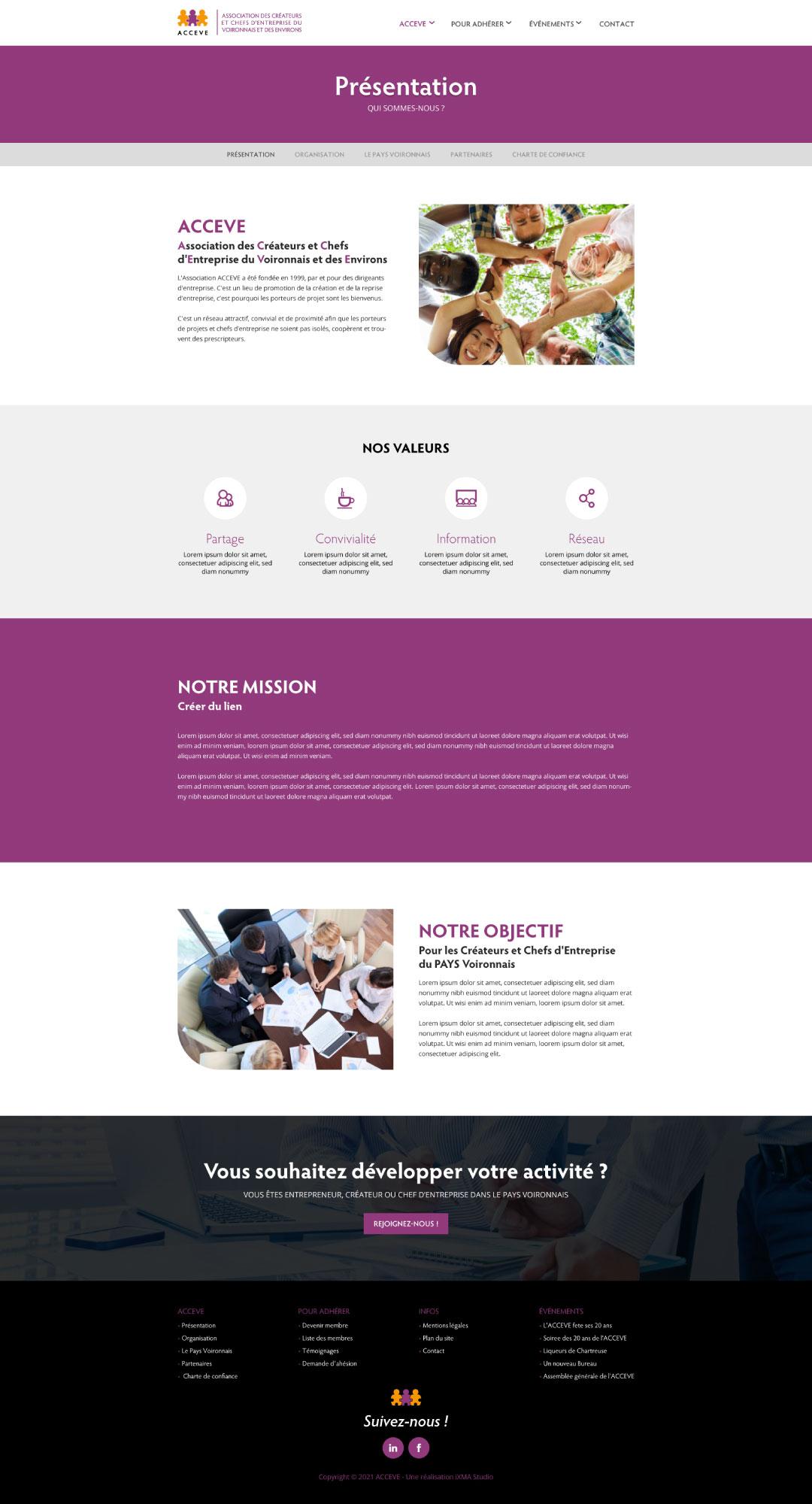 conception site web à Voiron