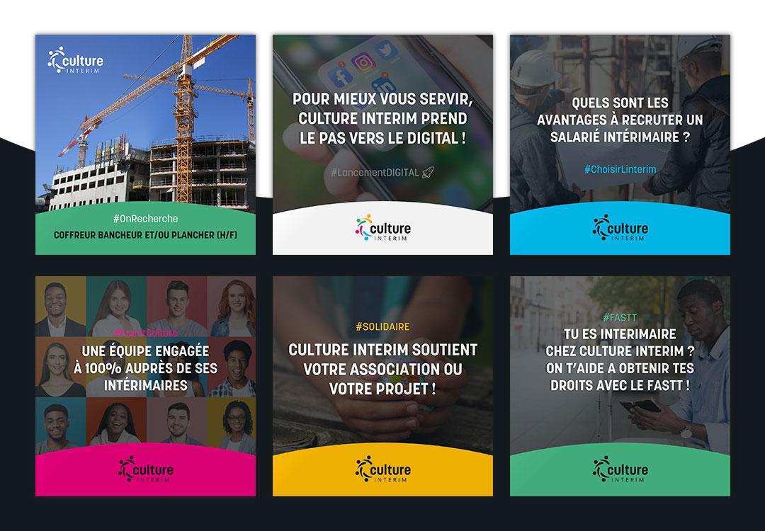Création réseaux sociaux pour agence d'interim