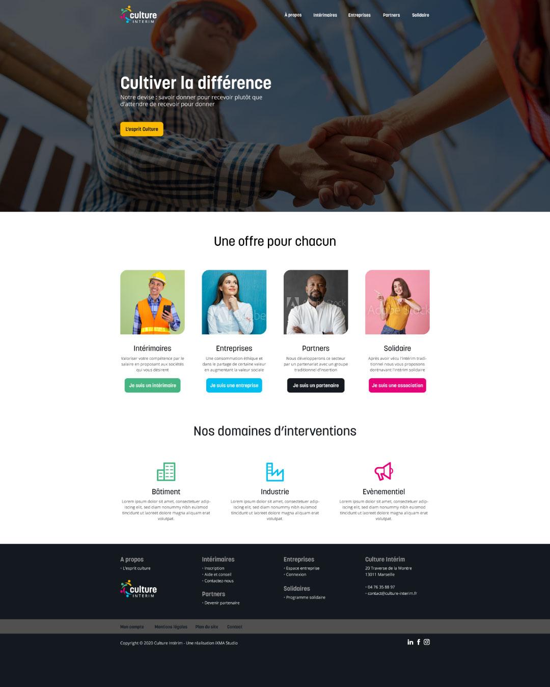 web design pour agence d'intérim