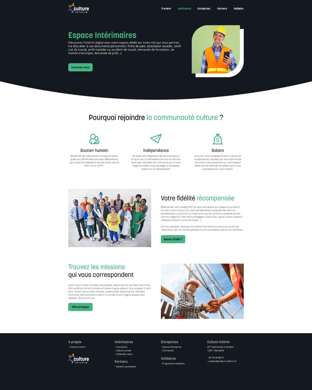 design site web pour agence d'intérim