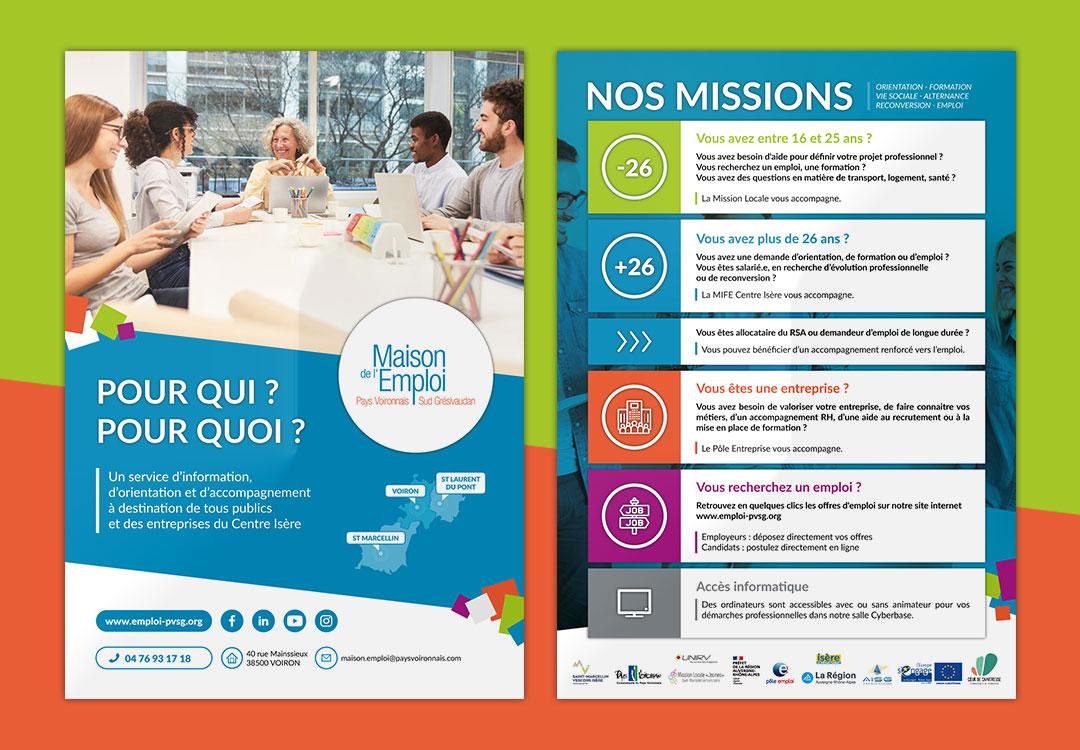 création de flyers A5 à Voiron